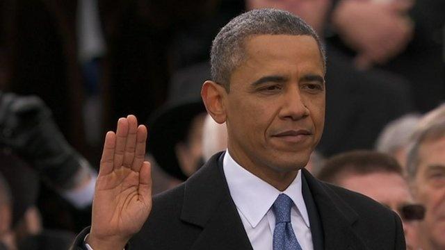 BBC News - Inauguration: Barack Obama tells US to 'seize the moment'