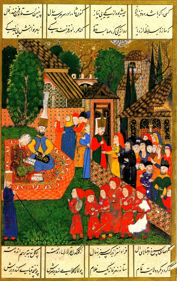 Janissary Recruitment in the Balkans (Süleymanname (ca. 16th Century CE Ottoman Miniature Painting) -Matrakçı Nasuh)