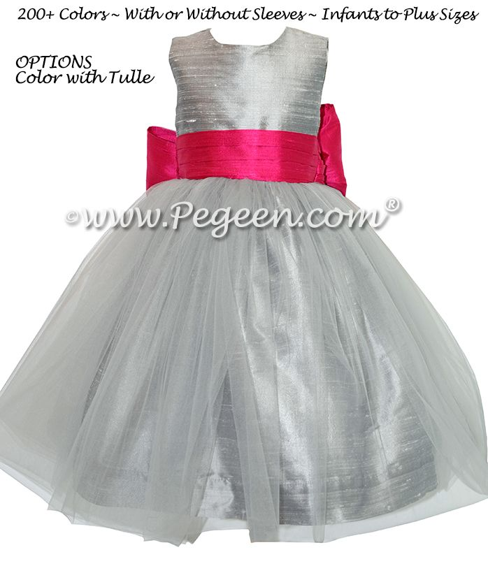 221 best gray flower girl dresses images on pinterest bohemian silver gray and boing hot pink flower girl dresses with silver gray tulle style mightylinksfo Gallery