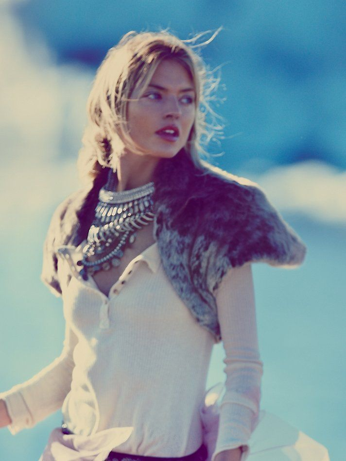 Free People Sweet Embrace Faux Fur Shawl at Free People Clothing Boutique