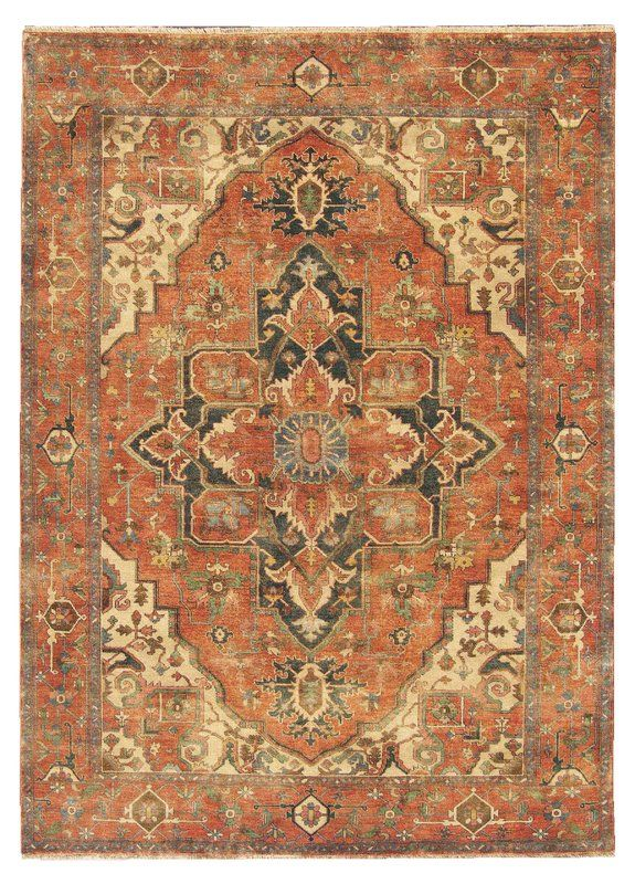 Serapi Oriental Hand Knotted Wool Orange Beige Area Rug In 2020 Exquisite Rugs Persian Rug Designs Area Rugs