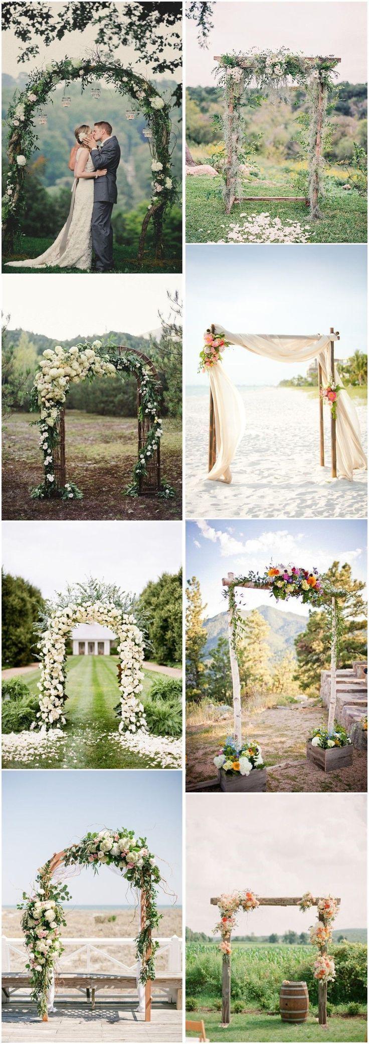 Rustic Weddings » 20 DIY Floral Wedding Arch Decoration Ideas » ❤️ See m