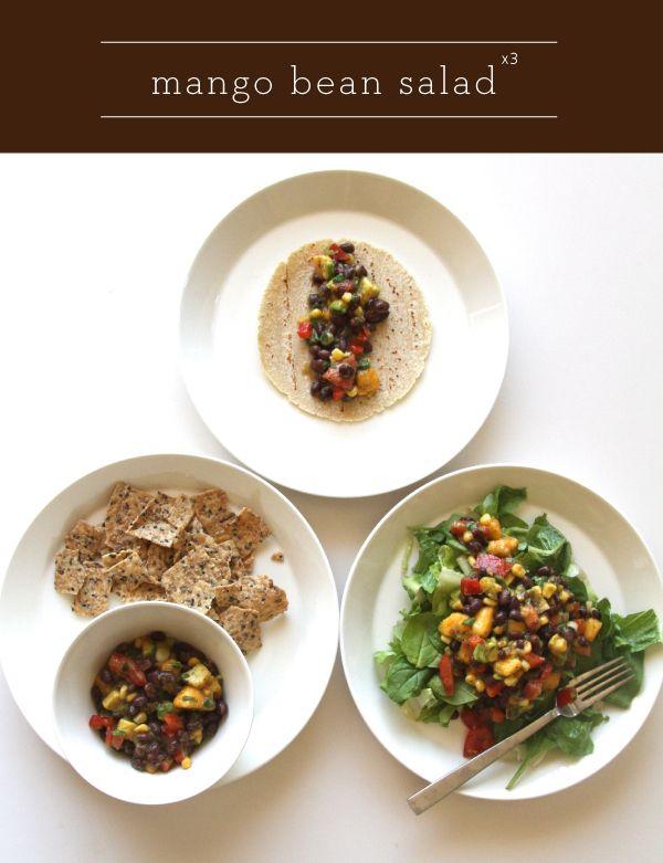 Mango and bean salad #food #recipes #salad