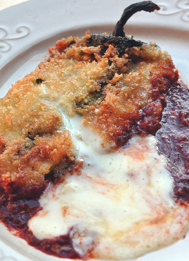 Chile rellenos using panko and a new method for preparing - freeze them between breading phases.