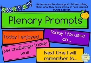 Plenary Prompts FREEBIE