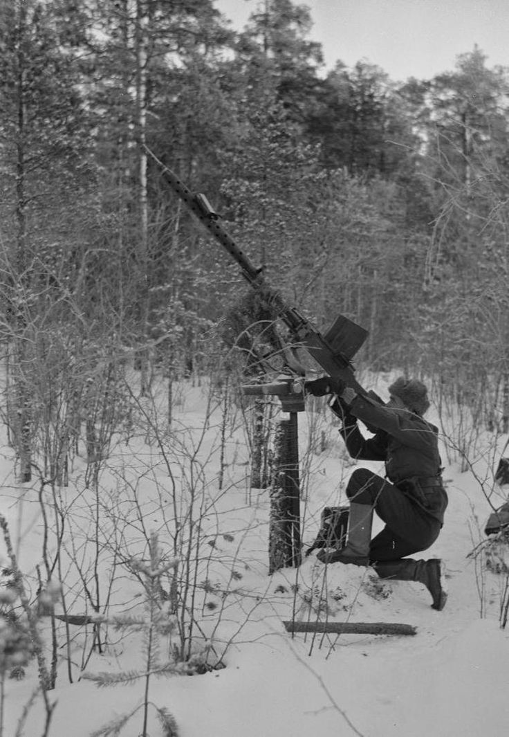 Lahti L-39 20mm rifle pressed into service as an anti-aircraft gun to counter Soviet attack aircraft [760x1100]