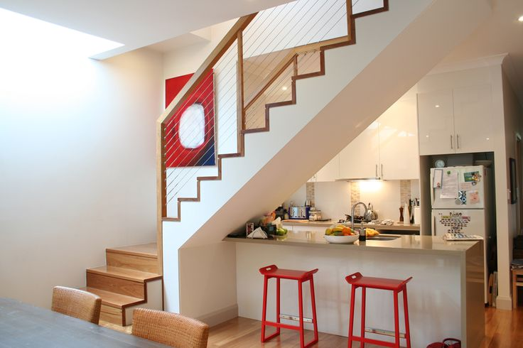 Mdf Wood Cut Stringer Closed Rise Staircase