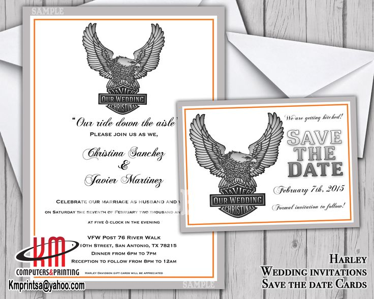 14 best invitation images on pinterest | marriage, motorcycle, Wedding invitations