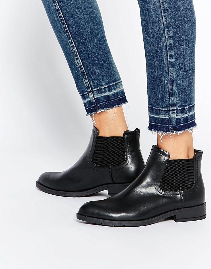 Daisy+Street+Black+Low+Cut+Chelsea+Boots