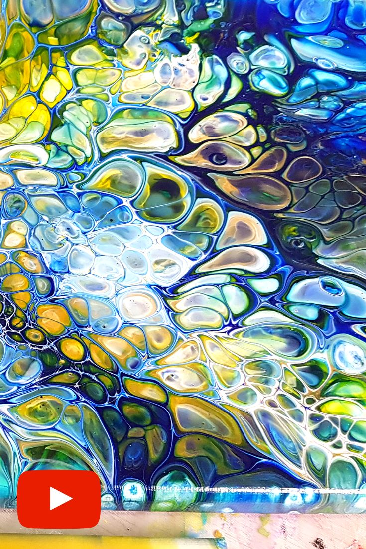 Acrylic Pouring Tutorial – Cells with Ready Mixed Pouring paint. AWESOME Results!