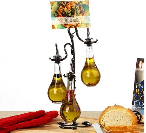 I totally dig these Oil/Vinegar Dispensers...makes my Kitchen feel like a laboratory V^^^V