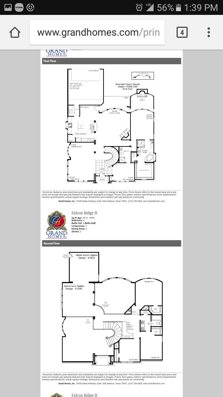 Pin By Brakinna Brunae On Real Estate Reality Grand Homes Floor Plans Real Estate