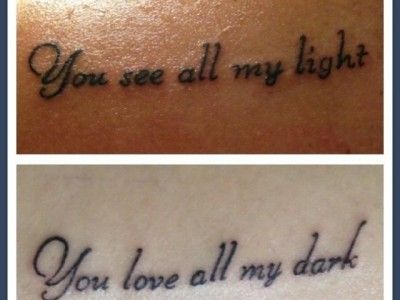 Like this for BFF or couples tattoos . . . not that Ill ever get a tat but ya know