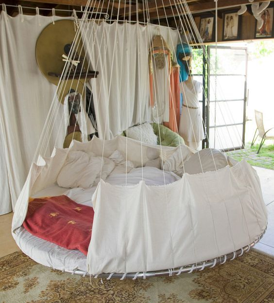 37 smart diy hanging bed tutorials and ideas to do diy for Diy hanging bed plans