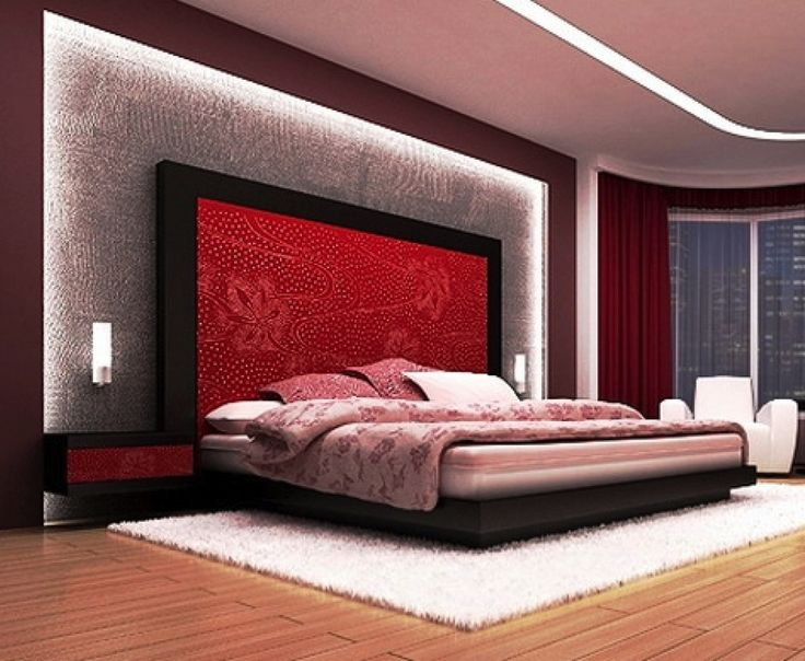 Modren Romantic Master Bedroom Decorating Ideas Red And Black S