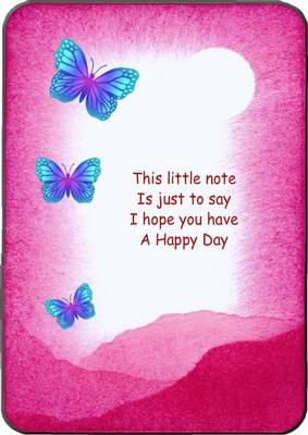 Thinking Of You Today on Craftsuprint designed by Kirsty Green - This is a simple card front. The text can be changed