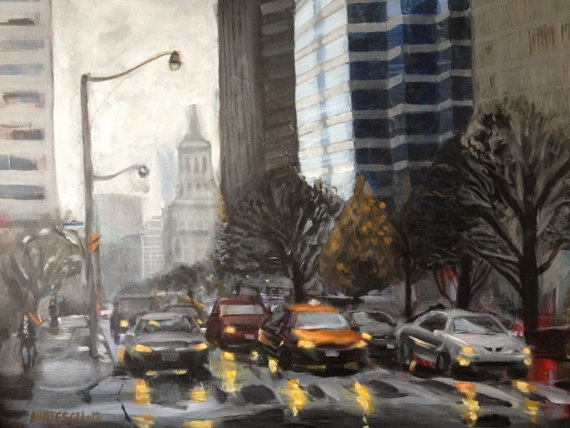 Rainy Afternoon University Ave by chirtescu on Etsy, $500.00