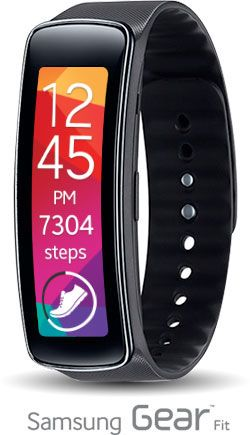 Amazon.com: Samsung Gear Fit Fitness Tracker - Black: Cell Phones & Accessories-I wish that I could pair this with my iphone - love the design