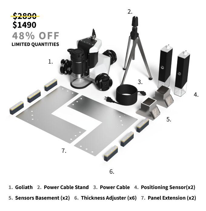 Goliat portátil robot CNC autónoma sobre el pedal de arranque - de vídeo, archivos GIF, fotos - HomemadeTools.net