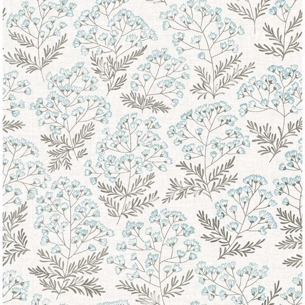 Floret Blue Floral Wallpaper Blue Floral Wallpaper Peel And Stick Wallpaper Floral Wallpaper