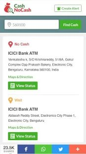 CashNoCash - ATM Finder app- screenshot thumbnail