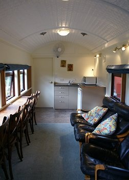 Picture of the Waitomo Express Rail Car Accommodation