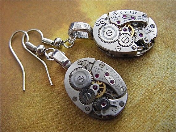 Steampunk earrings. Very cool!: Steampunk Earrings, Neato Things