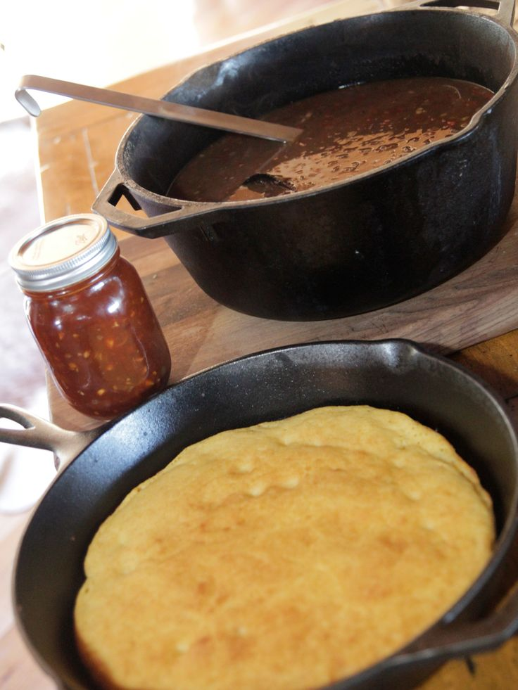 Skillet Cornbread from FoodNetwork.com Episode Camping at the Creek