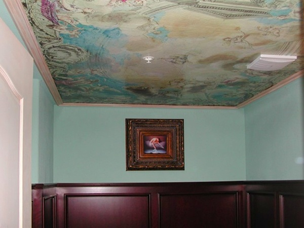 Ceiling depicting minerva wallpaper mural ceiling murals for Ceiling mural wallpaper