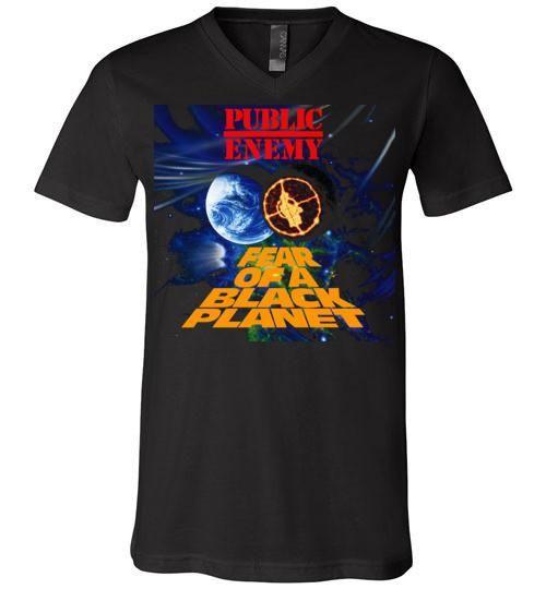 Public Enemy Fear Of A Black Planet Album Cover, Chuck D, Flavor Flav,Terminator X, Classic Hip Hop ,v5, Canvas Unisex V-Neck T-Shirt