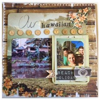 Kaisercraft- Paradiso collection layout  by Shop and Crop Scrapbooking
