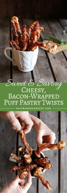 Sweet and Savory Cheesy Bacon Wrapped Puff Pastry Twist | halfbakedharvest.com @hbharvest