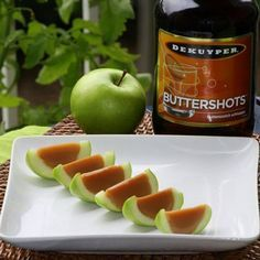 How to Make Caramel Apple Shots Recipe (Schnapps, so we are staying classy here.)
