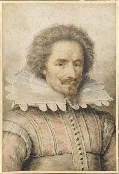 """Portrait of a Gentleman"" by Daniel Dumoustier (1615):"