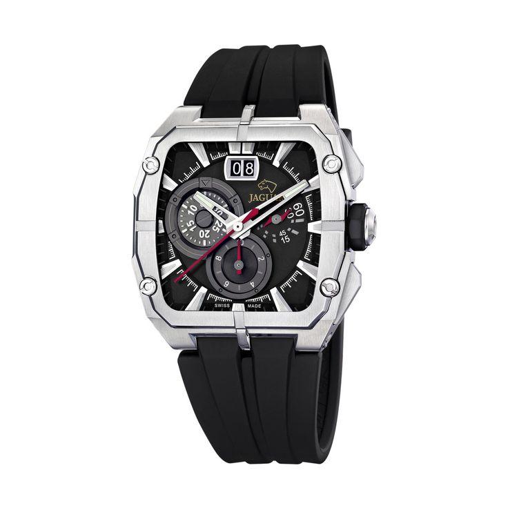 Reloj Jaguar J640/C para hombre:  Caja de 44 mm. de diámetro de acero inoxidable. Correa de caucho. Movimiento Quartz. Cronógrafo. Resistencia al agua: 100m. Garantía de 24 meses.