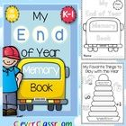 End of Year Memory Book and Activities Kindergarten- Grade One Unit for the end of the school year  Its all most the end of the year! Lets record...