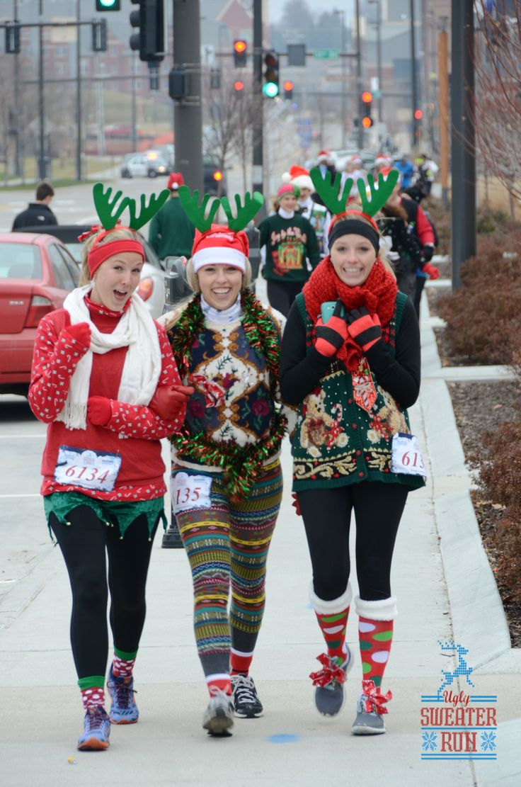 "The Ugly Sweater Run Omaha, NE  Needing ideas for a FUN Ugly Christmas Sweater Party check out ""The How to Party In An Ugly Christmas Sweater"" at Amazon.com"