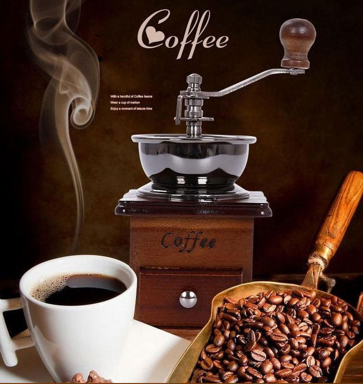 Classical WOODEN Manual Coffee Bean GRINDER with Stainless Steel RETRO  #Unbranded