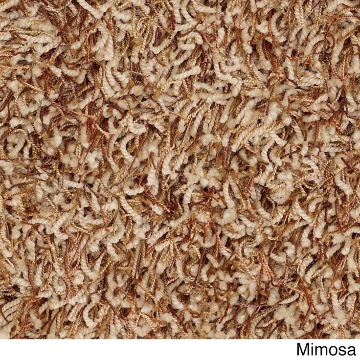 Shaw Bling Collection Nylon/Polyester Super-shag Oversized Area Rug (12' x 15') (Z6809-225 Mimosa), Brown, Size 12' x 15'