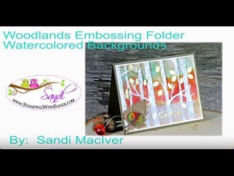 Stampin' Up! Woodlands Embossing Folder -