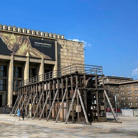 WEBSTA @ foksal_gallery_foundation - 'Graduation Tower' by Robert Kusmirowski from today on view in the front of National Museum in Kraków @thenationalmuseuminkrakow #robertkusmirowski #graduationtower #tężnia