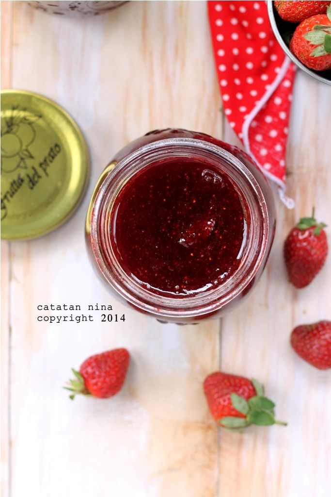 Homemade Strawberry Jam Catatan Nina Selai Stroberi Stroberi Makanan