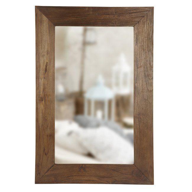 Spejl med antik ramme-H.90cm