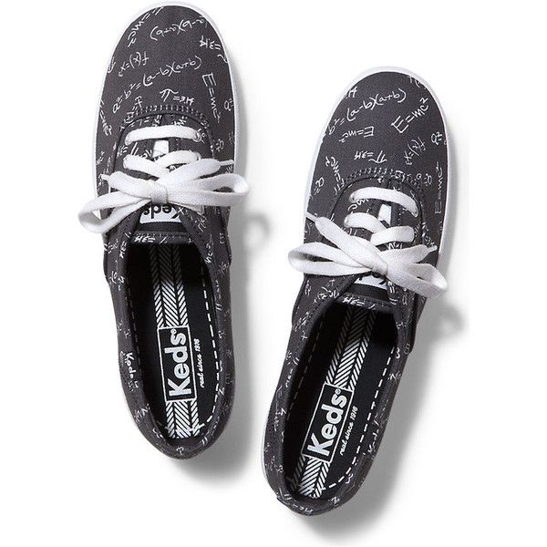 Keds Champion Back to School found on Polyvore featuring shoes, sneakers, black, kohl shoes, flexible shoes, keds shoes, black shoes and black trainers