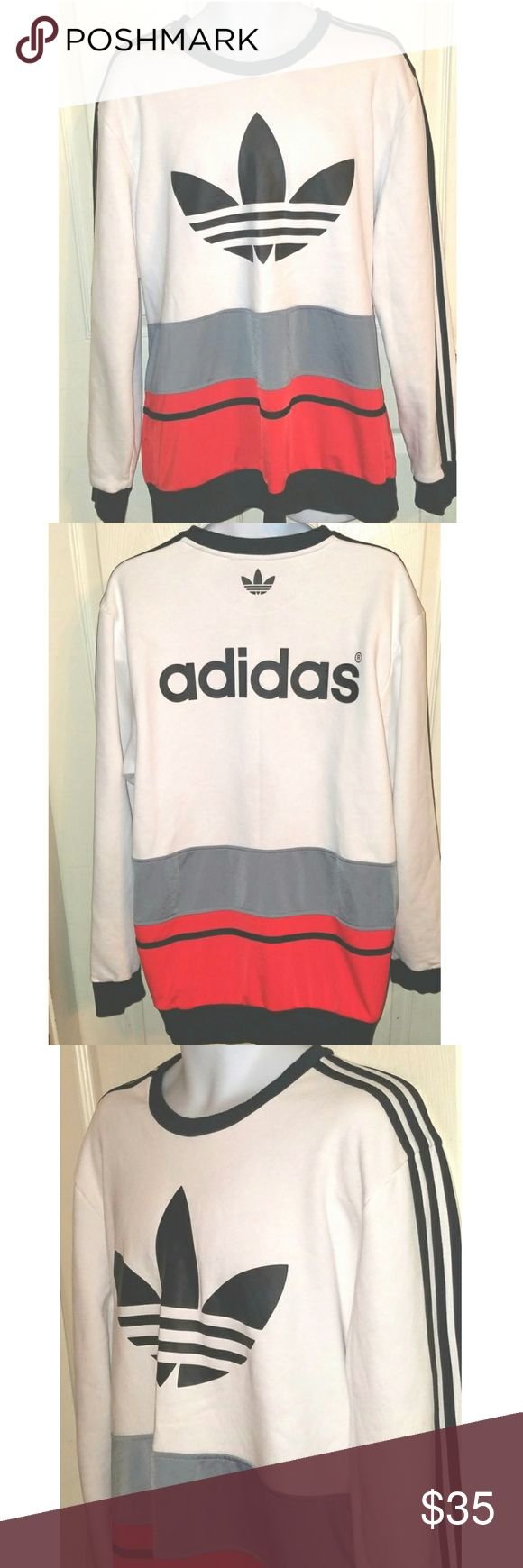 Adidas Originals Trefoil Mens Sweatshirt XL This is a mens XL (size tag missing) retro sweatshirt  by Adidas Oroginals. The chest measures 25 inches and the length is 31 inches. adidas Shirts Sweatshirts & Hoodies