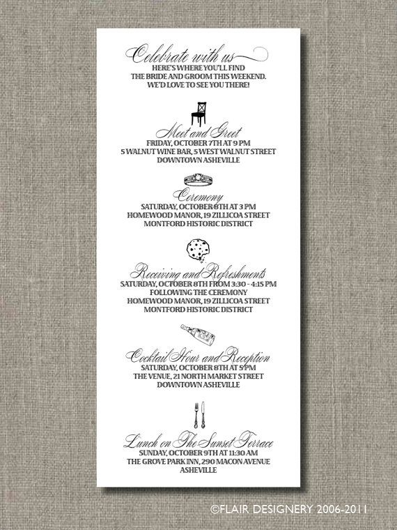17 best images about wedding agenda on Pinterest