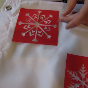 Red Snowflake Shower Curtain
