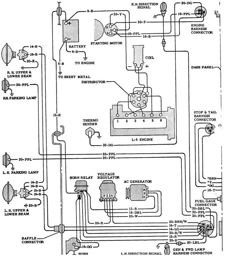 64 chevy c10 wiring diagram | 65 Chevy Truck Wiring ...