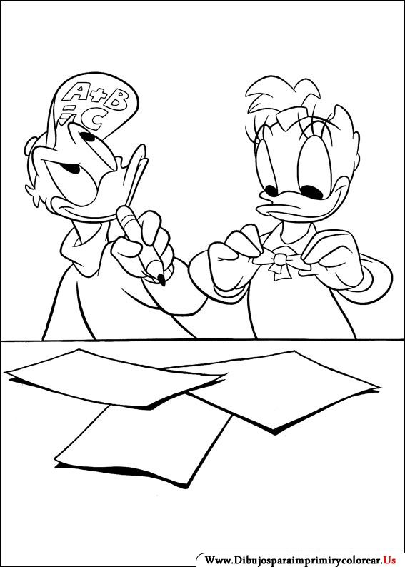 47 best Mickey, Donald, & Friends ~ Disney Coloring Pages images on ...