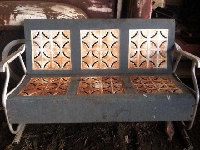 vintage mid century porch glider pie crust design patio furniture antique 1950s - Garden Furniture Gliders